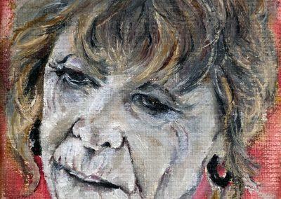 Portret met oorbel
